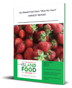 Cape Breton Island Food Network Our Shared Food Vision What We Heard Harvest Report Reduced Book Cover